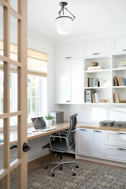 cabinets shelves office storage ideas