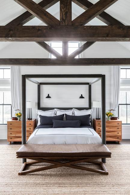 wood ceiling bedroom