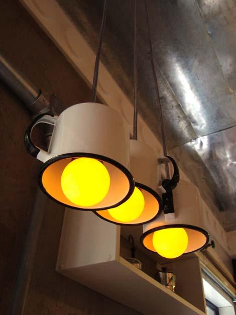 metal cups pendant lights
