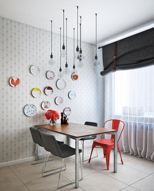 interior decorating red white color combination