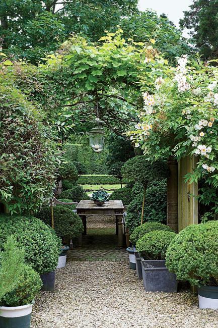 beautiful garden design gravel patio dining area