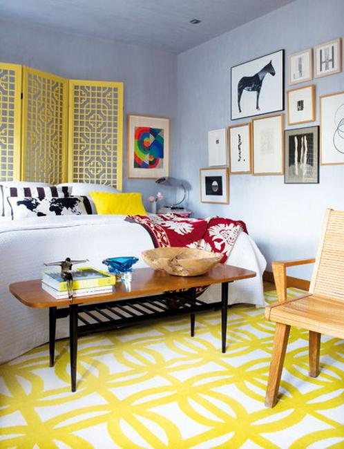 colorful bedroom decorating