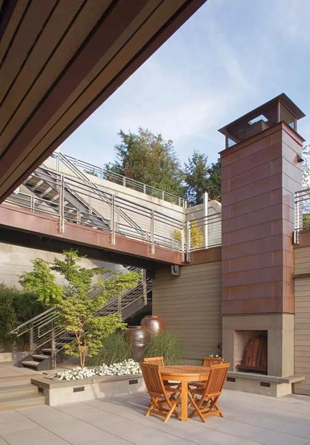 copper house exterior design elements