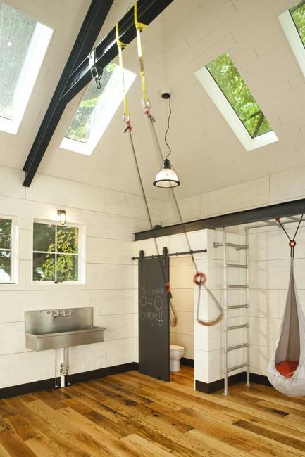 exercise room home gym design idea