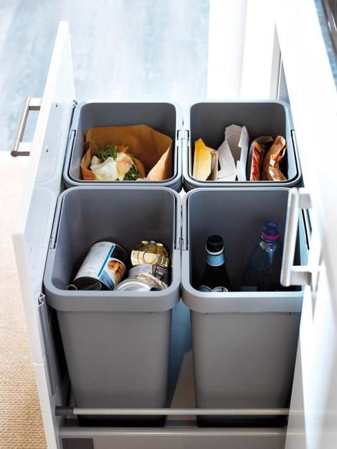 bins sorting waste