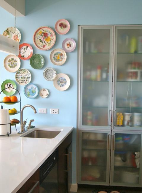 decorative plates kitchen interiors
