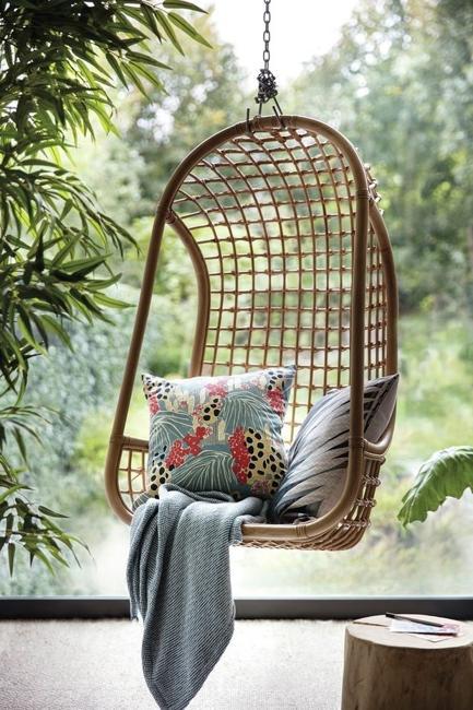 green leaves modern interior decorating ideas