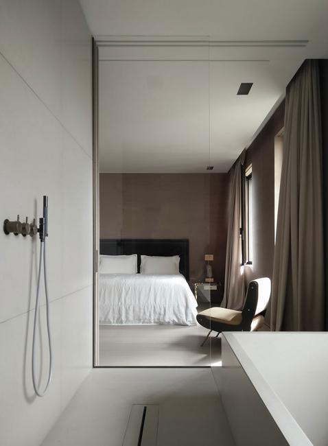 contemporary bedroom bathroom design