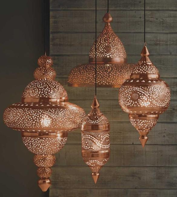maroccan lanterns forged metal lamps