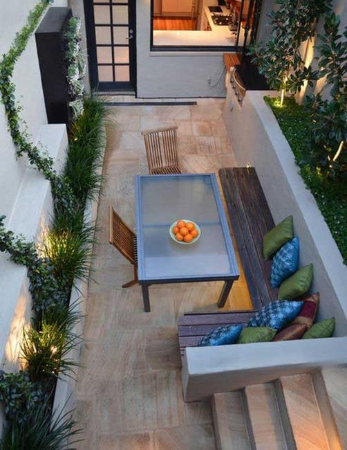 contemporary outdoor rooms