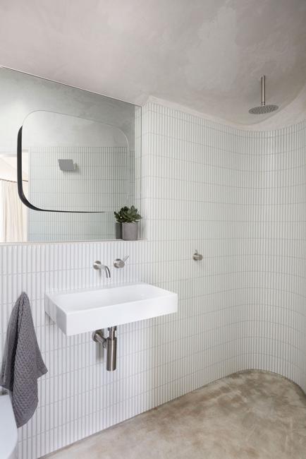 small bathroom white gray colors