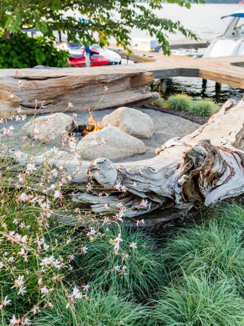 stones backyard landscaping ideas fire pits