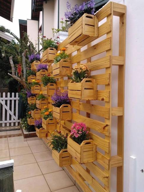 salvaged wood decorative screen