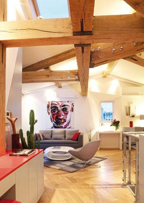 attic living room small spaces