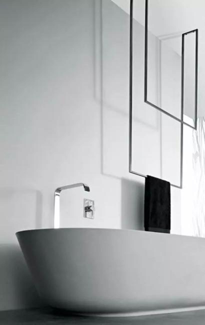 contemporary bathroom design black white