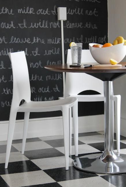 black white kitchen design