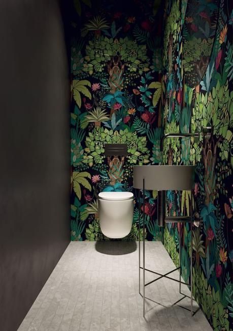 green wallpaper leaf patterns