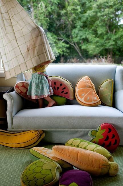 fruit pillows various colors